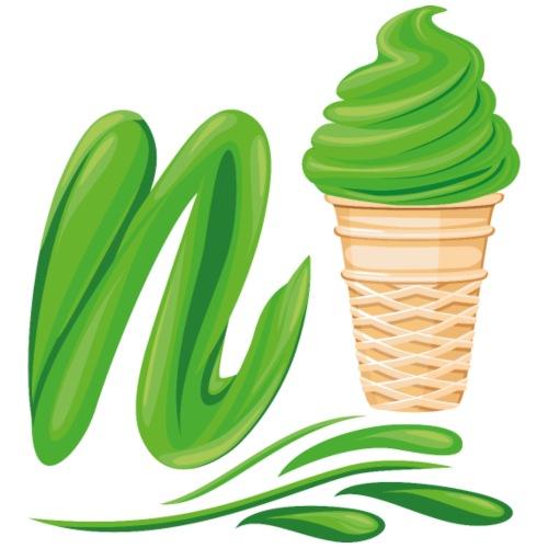 N'ice Eiscreme-Emoji mit einem N. Grünes Softeis - Männer Premium T-Shirt
