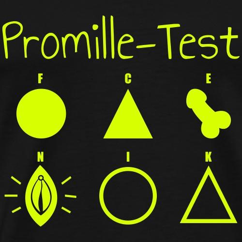 Der ultimative Promille-Test. Bestehst du Ihn? - Männer Premium T-Shirt