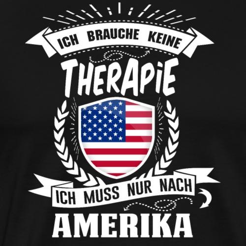 Therapie Amerika WHT - Männer Premium T-Shirt