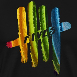 FIVES color bubbles - T-shirt Premium Homme