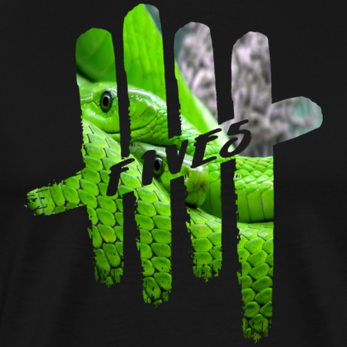 FIVES green snakes - T-shirt Premium Homme