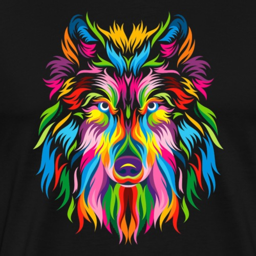 Shetland sheepdog multicolor - T-shirt Premium Homme