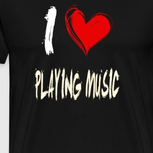 I love making music - Men's Premium T-Shirt