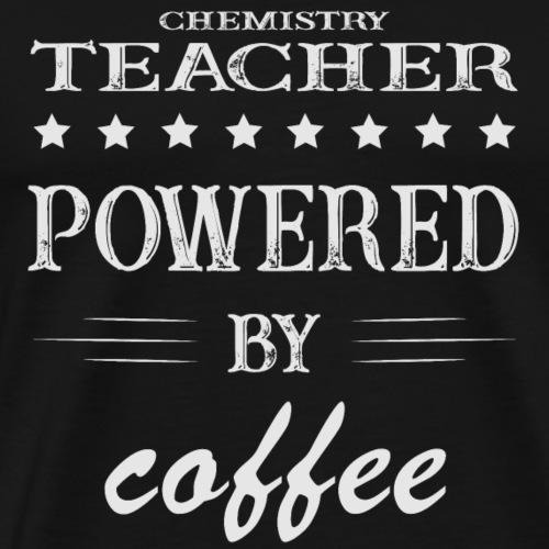 Powererd by Coffee, Kaffee, Chemie - Männer Premium T-Shirt