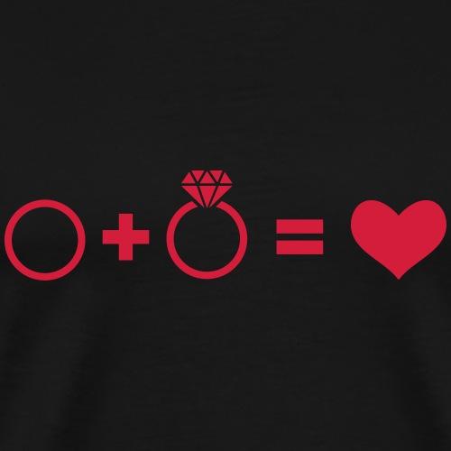 Eheringe - Männer Premium T-Shirt