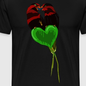 Love Birds by BlackenedMoonArts - Men's Premium T-Shirt