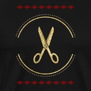 conception Goldene Schere Barber - T-shirt Premium Homme