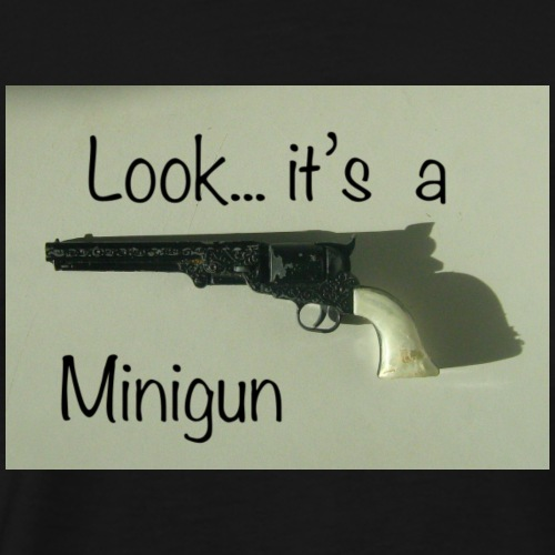 minigun - Premium T-skjorte for menn