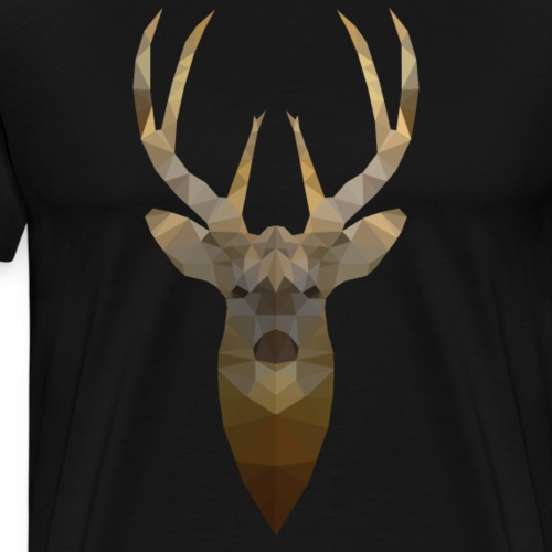 Rendier - Low Poly 2D - Mannen Premium T-shirt