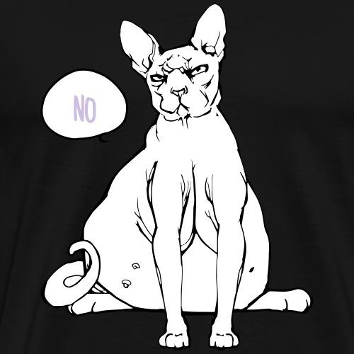 Nacktkatze -Sphynx - fat cat - Männer Premium T-Shirt