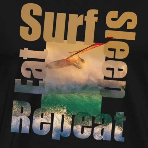 Eat.Surf.Sleep.Repeat - Mannen Premium T-shirt