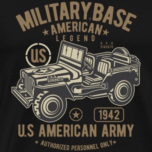American Army Jeep - Männer Premium T-Shirt