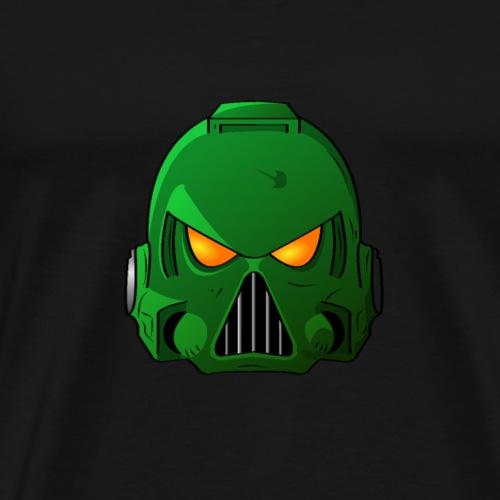 Salamander Space Marine Helmet - Men's Premium T-Shirt