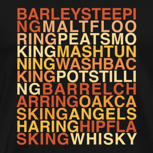 Whisky Production Poem - Men's Premium T-Shirt
