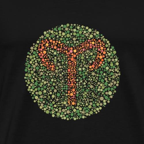 Aries Eye Test Zodiac Symbol - Men's Premium T-Shirt