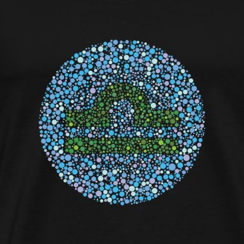 Libra Eye Test Zodiac Symbol - Men's Premium T-Shirt