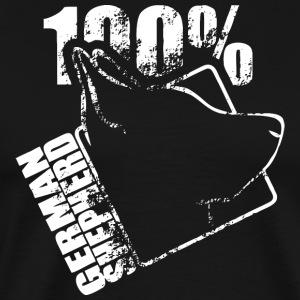 GERMAN SHEPHERD 100 - Männer Premium T-Shirt