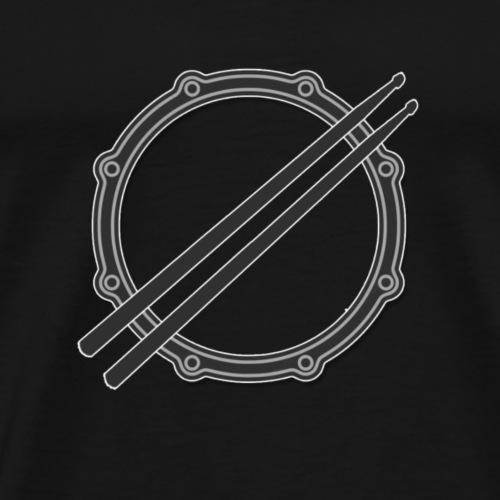Snare + Sticks - Männer Premium T-Shirt