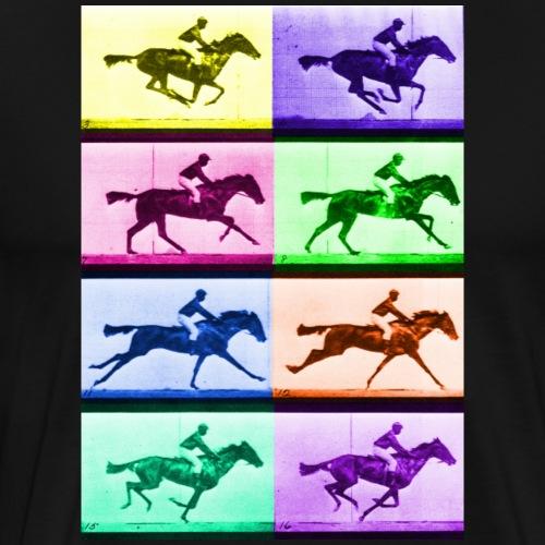 Design Classic 2A: Muybridge meets Warhol - Mannen Premium T-shirt