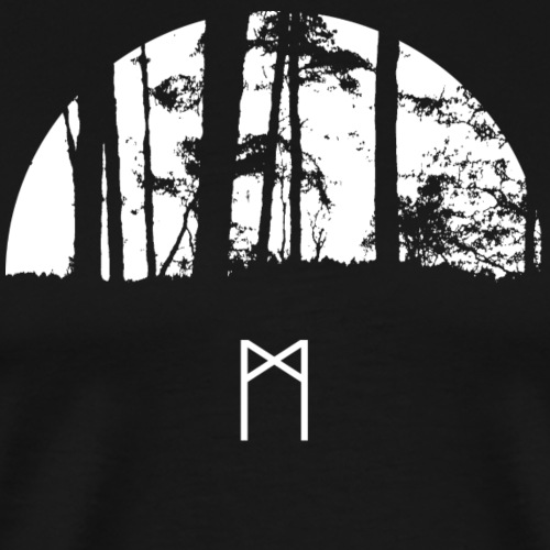 Darkwood with Mannaz Rune - Men's Premium T-Shirt
