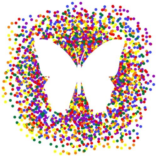 Homosexual - Butterfly & Confetti - Männer Premium T-Shirt