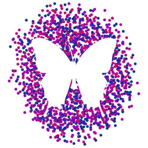 Bisexual - Butterfly & Confetti - Männer Premium T-Shirt