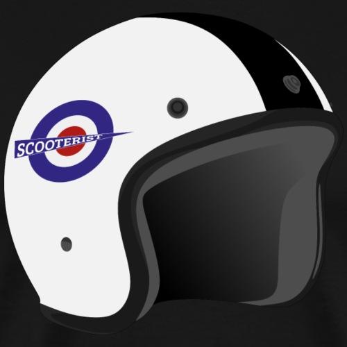 Helmet Scooterist - Männer Premium T-Shirt