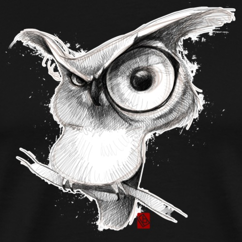Sketchy Hibou - T-shirt Premium Homme