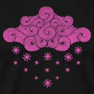 nuage rose et flocons
