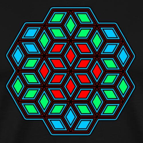 Geometrie - Muster - Mandala - Goa - Psy - Yoga - Männer Premium T-Shirt
