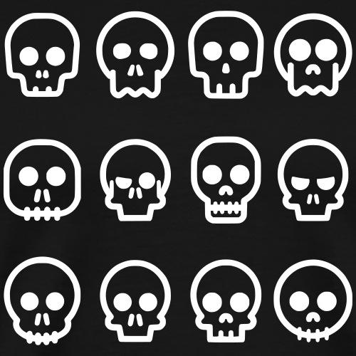Skullwall - Männer Premium T-Shirt