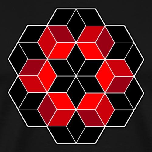 Geometrie - Würfel Design - Psy - Goa - Muster - Männer Premium T-Shirt