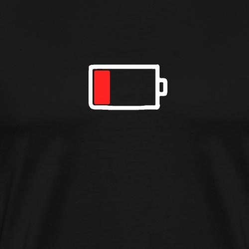 Smartphone akku leer - Männer Premium T-Shirt