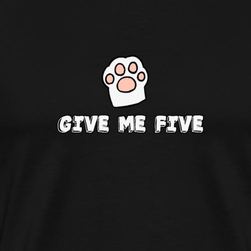 give me five Katzen - Männer Premium T-Shirt