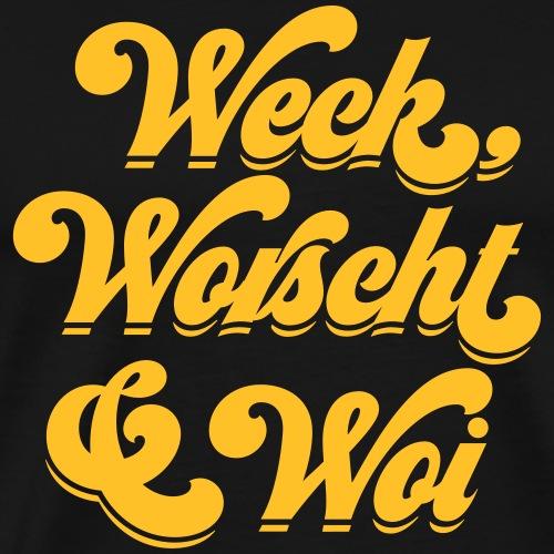 Weck, Worscht & Woi - Männer Premium T-Shirt