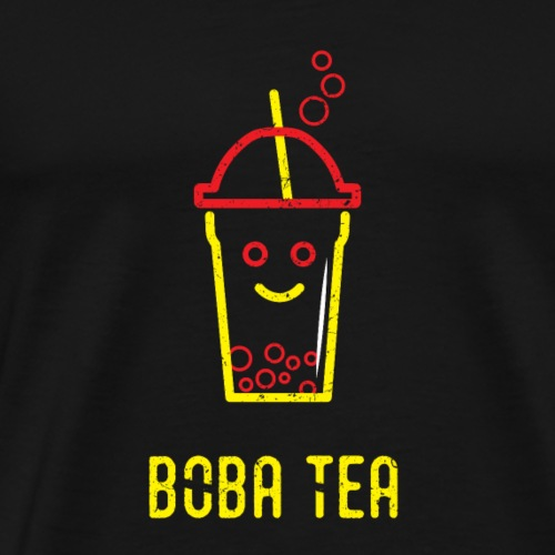 Boba Tea Red and Yellow - Men's Premium T-Shirt