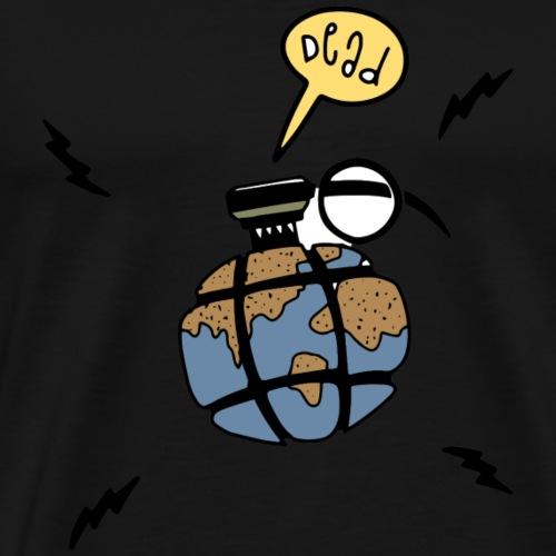 Dead ! grenade word - T-shirt Premium Homme