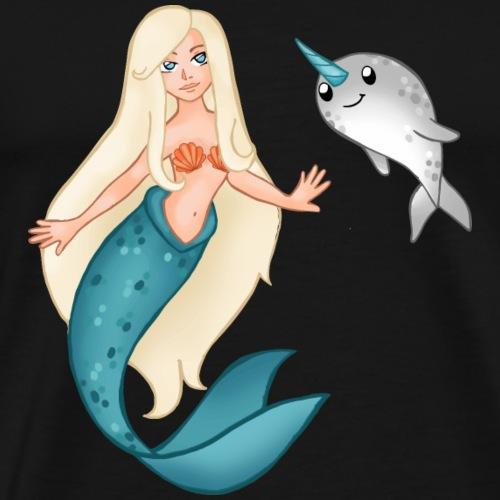 Meerjungfrau und Narwal - Männer Premium T-Shirt