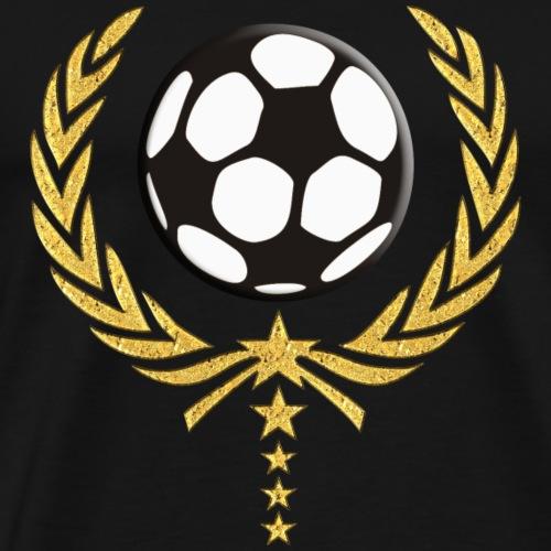 Fussball Lorbeerkranz 5 Sterne Team 4 - Männer Premium T-Shirt
