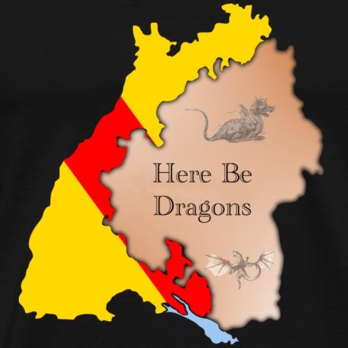 Baden-Württemberg / Here Be Dragons - Männer Premium T-Shirt