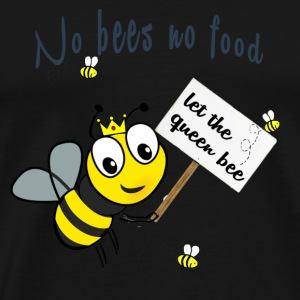 Save the bees with this cute design! Red de bij - Mannen Premium T-shirt