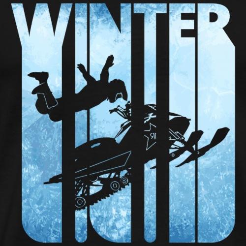 Retro Vintage Winter Holiday Sports.Snowmobile. - Men's Premium T-Shirt