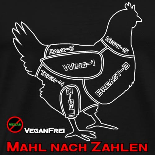 T Shirt Chicken Cut Weiss - Männer Premium T-Shirt