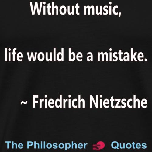 Nietzsche Music-w - Mannen Premium T-shirt