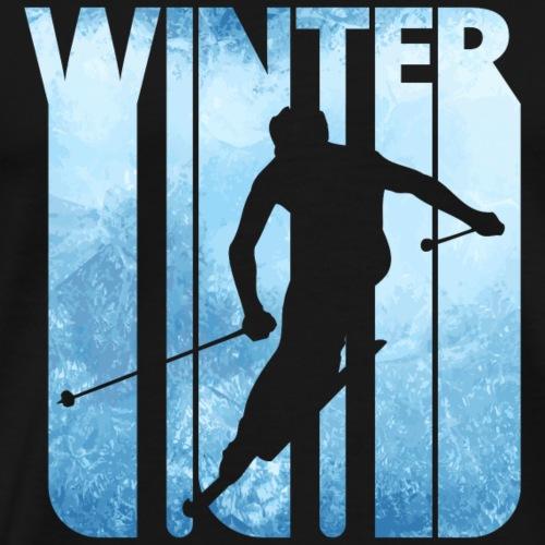 Vintage Winter Holiday. Ski slalom Gifts. Skier. - Men's Premium T-Shirt