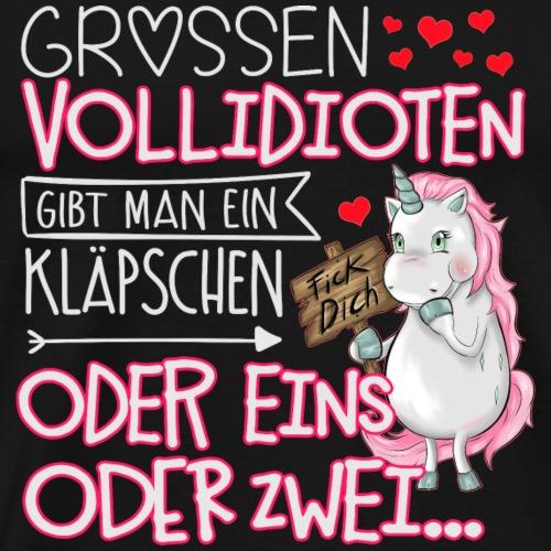 Einhorn grossen Vollidioten - Männer Premium T-Shirt