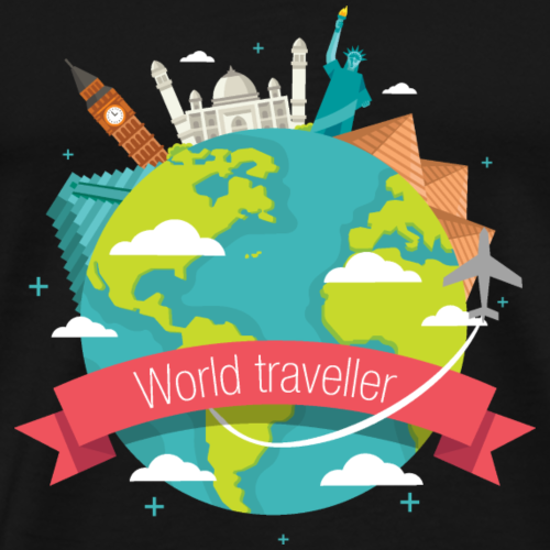 World traveller - T-shirt Premium Homme