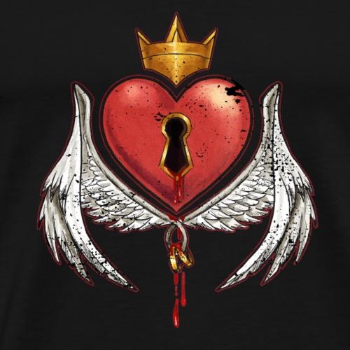 Herz Königin König Geschenk Valentin Ewige Liebe - Männer Premium T-Shirt