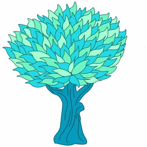 Baum hellblau - Männer Premium T-Shirt
