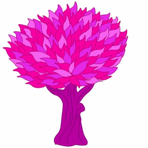 Baum rosa - Männer Premium T-Shirt